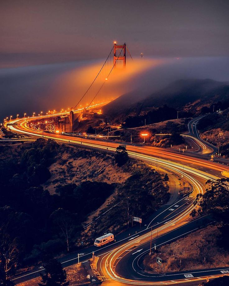 San Francisco Road Map Pdf%0A Golden Gate Bridge at night by San Francisco Feelings