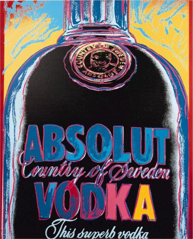 Absolut Vodka | Artist: Andy Warhol | Completion Date: 1986 | Style: Pop Art  Genre: advertisement.