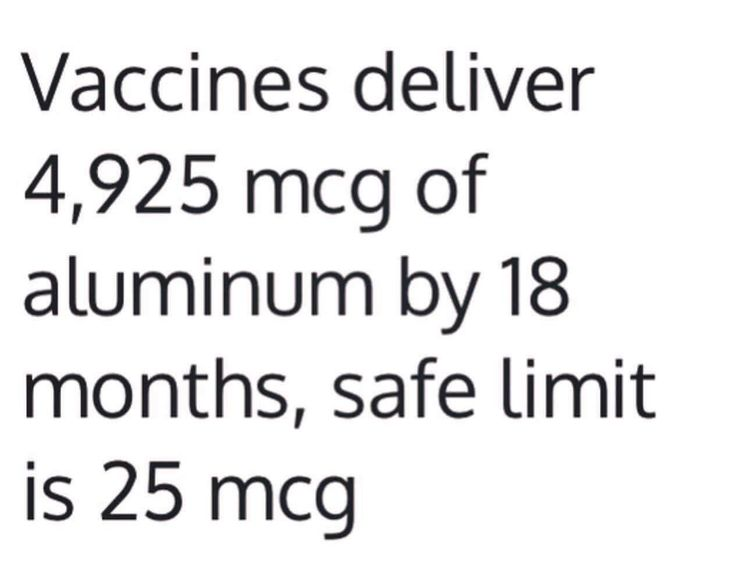 And the 'safe limit' is set by the FDA. Vaccines are the only thing that do not have to be set by this limit. Why??