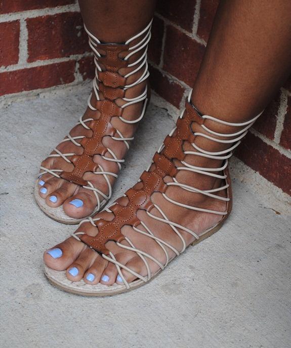 BBW Ebony Feet In Black Sandals