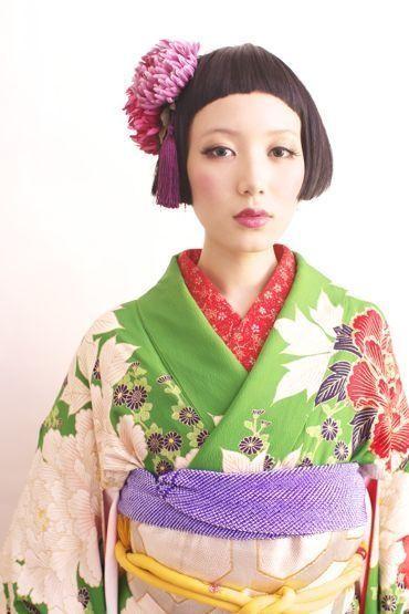 振り袖 髪型 ボブ | utsukushi kami 振袖 髪型 下ろす