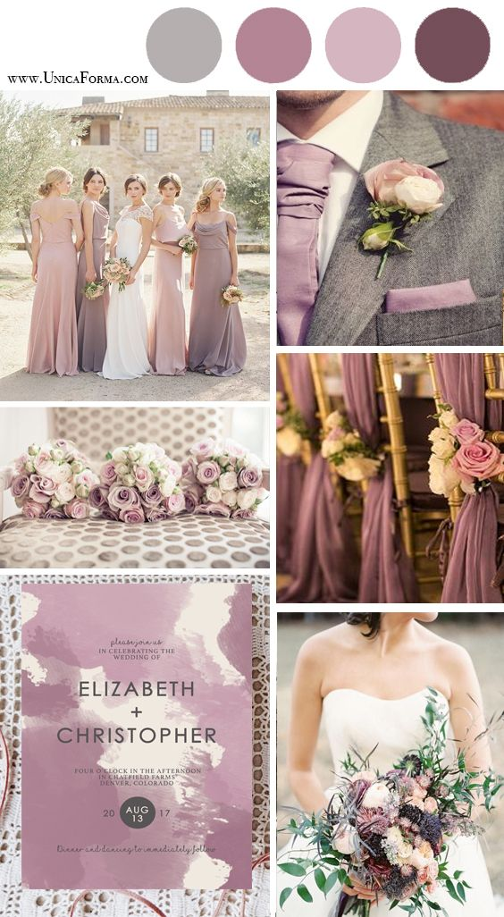 Beautiful shades of lilac and blush pink!