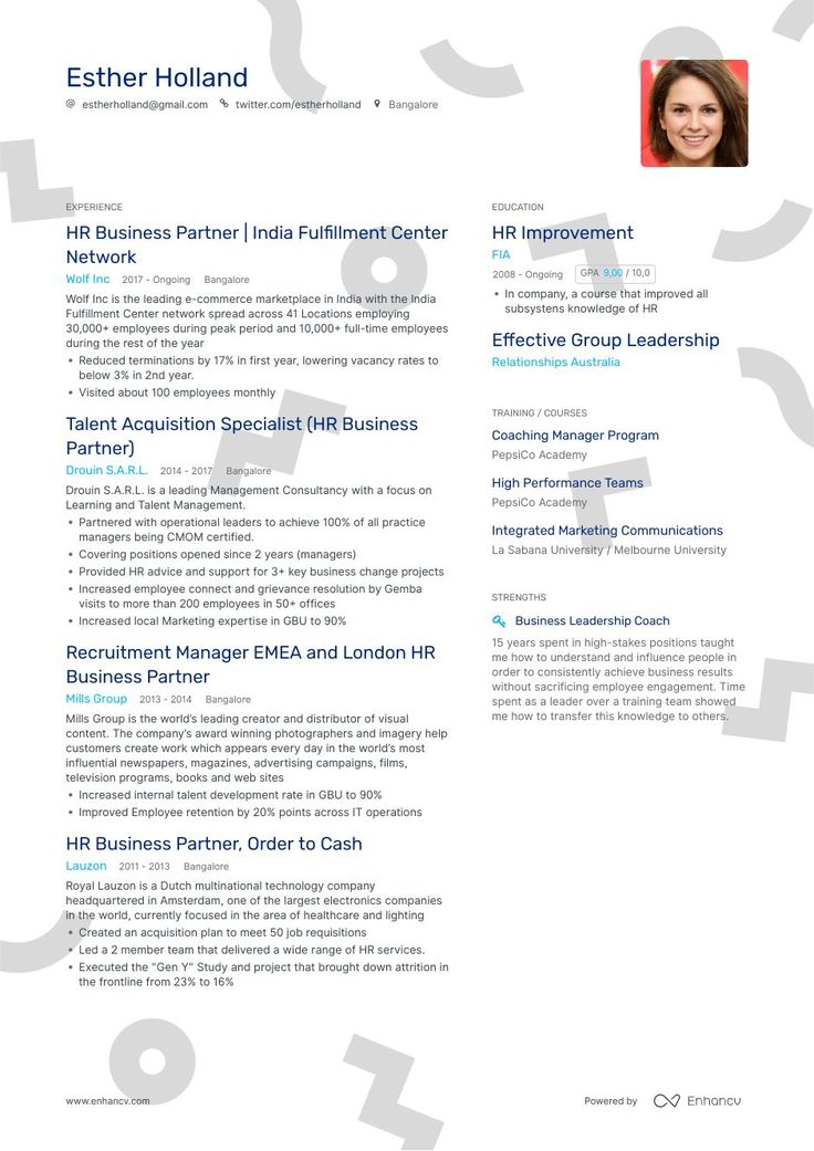 The ultimate 2019 guide for Hr Business Partner resume