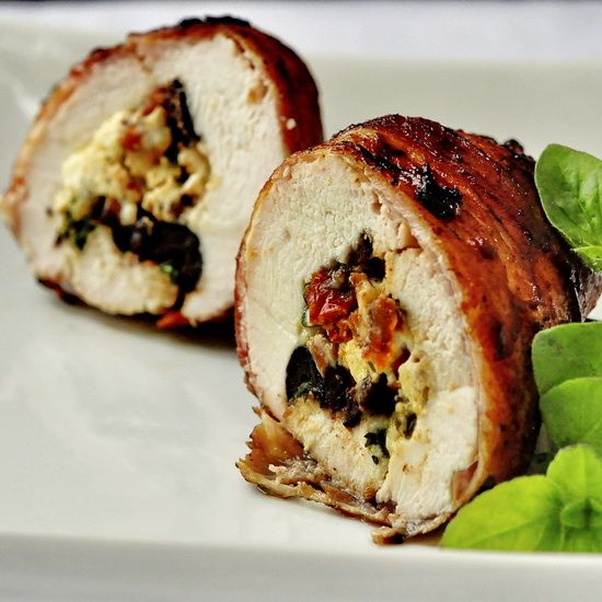 Bacon Wrapped Mediterranean Stuffed Grilled ChickenStuffed Grilled, Mediterranean Stuffed, Chicken Recipe, Bacon Wrapped, Wraps Mediterranean, Newfoundland Kitchens, Rocks Recipe, Grilled Chicken, Bacon Wraps
