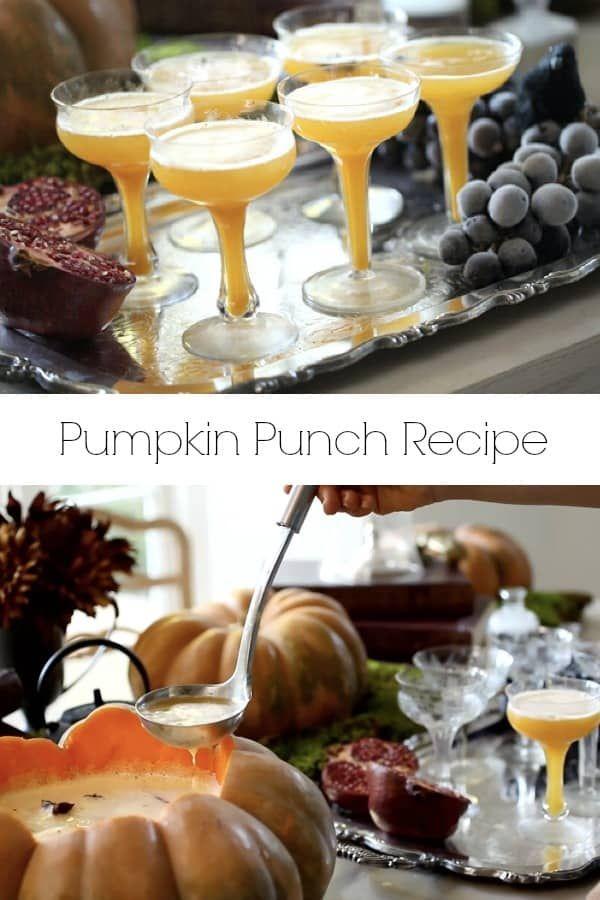 Pumpkin Punch Recipe Fall Dinner Recipes Pinterest Punch