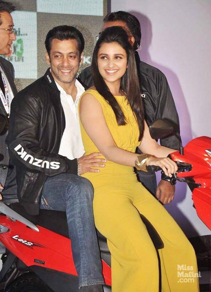Parineeti Chopra with Salman Khan