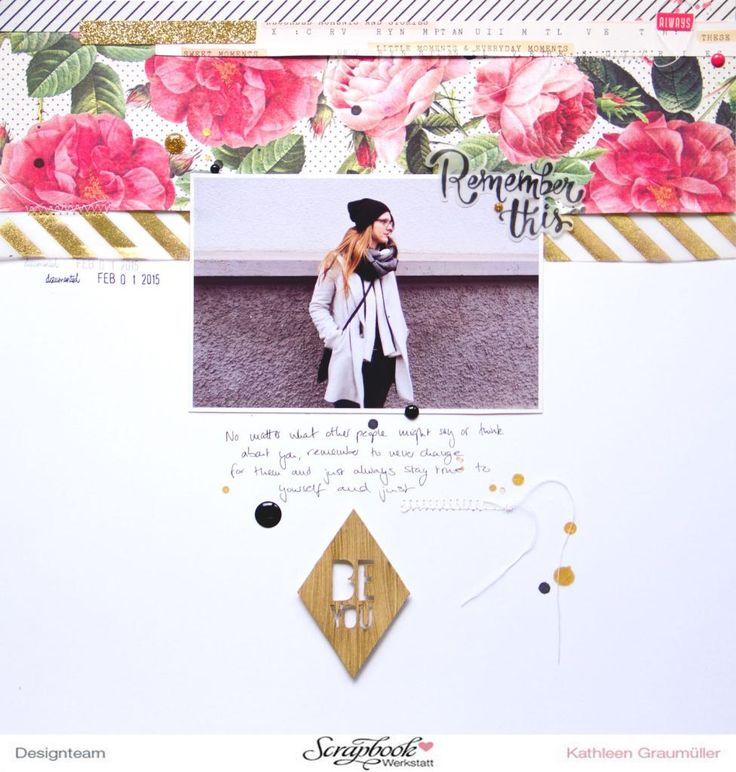 """""""Be You"""" Layout by ScatteredConfetti with Crate Paper """"Open Book"""" collection // #scrapbooking #layout #cratepaper #maggieholmes #scrapbookwerkstatt"""