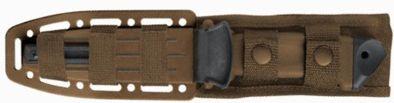 Etui du couteau Gerber LMF II Infantry très pratique. Un des meilleurs étuis de couteau de survie. Le test ici : http://www.couteau-survivre.com/test-couteau-gerber-lmf-2/