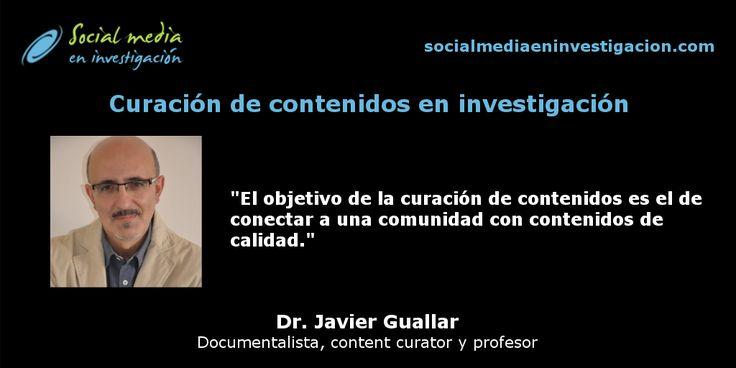 Charla con Javier Guallar sobre curación de contenidos en investigación. #ContentCuration