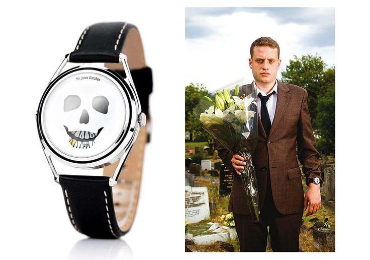 Design hodinek Mr Jones Watches - The Last Laugh který navrhoval slavný komik William Andrews.  http://www.24time.cz/the-last-laugh/