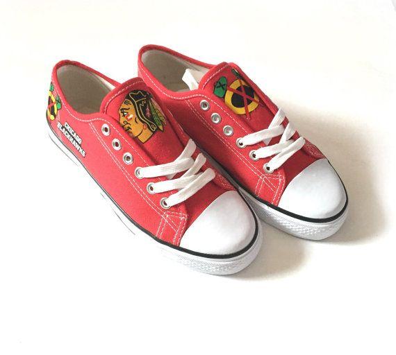 Chicago Blackhawks Shoes Blackhawks Hockey Shoes by ShopWildRose