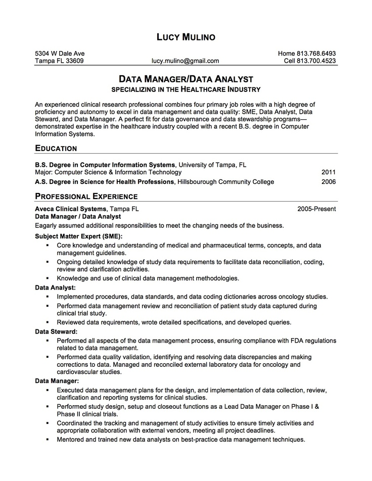 This is a good sample resume: nice format, balance of white space and print, plus the person's best qualifications are in the upper 1/3 of the page-nice!
