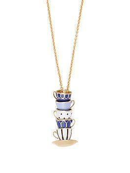 tea time pendant by kate spade new york- I just adore this pendant- its a tea party!