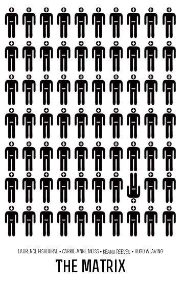 The Matrix Poster by Beren Davis, via Behance