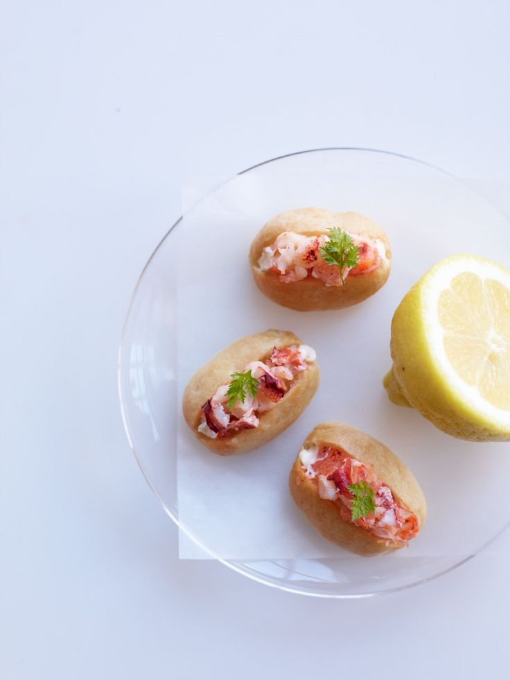 Just for Juliana :) Party Food - mini lobster rolls by caterer and author Peter Callahan