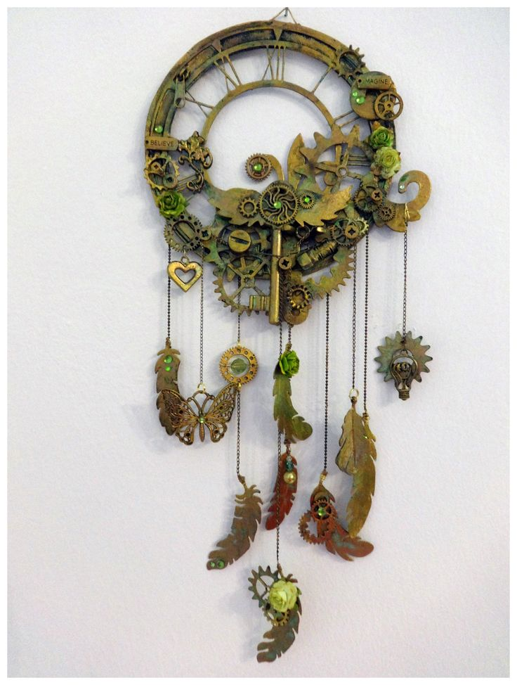 This a steampunk dreamcatcher inspired by Joanne Bain from the Dusty Attic.