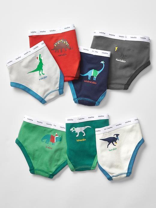 Days-of-the-week festive dino underwear (7-pack)