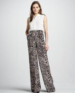 Rachel Zoe Animal-Print Pants