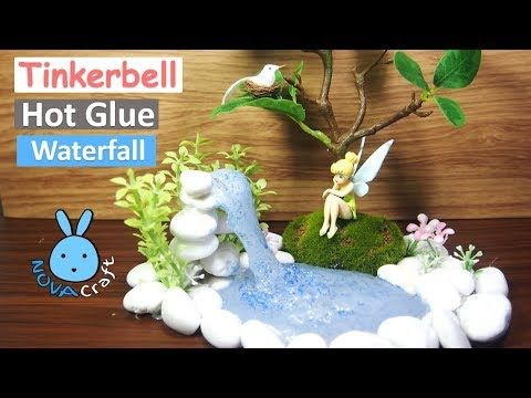 Hot Glue Waterfall Tutorial Tinkerbell Real Life | Hot Glue DIY Life Hac...