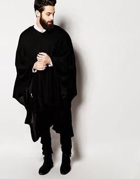 ASOS Poncho In Black