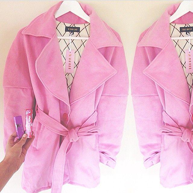 Regram @emdavies___ the candy coat #wndlnd #pink #coat #winter #limecrime