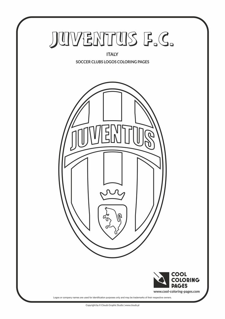 Cool Coloring Pages Soccer Clubs Logos Juventus F C