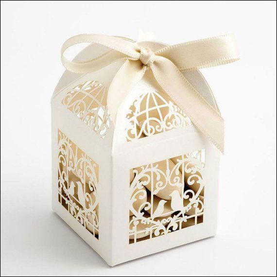 Filigree Laser Cut Wedding Favour Boxes by WeddingParaphernalia
