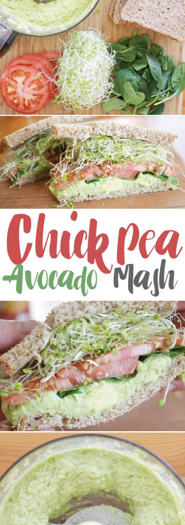 This mash makes a great sandwich, but also an excellent dip for parties too! Obviously, not everyone is a fan of sprouts, like we are, but this avocado-chickpea mash makes an excellent base to any sandwich. The other great thing about this recipe, is it's so simple to make. And if you're looking for less dishes, you can mash it by hand for a chunkier texture that's still just as tasty!