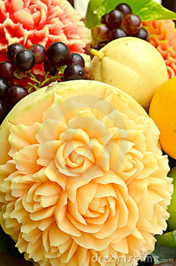 Best ideas about fruit carvings on pinterest food