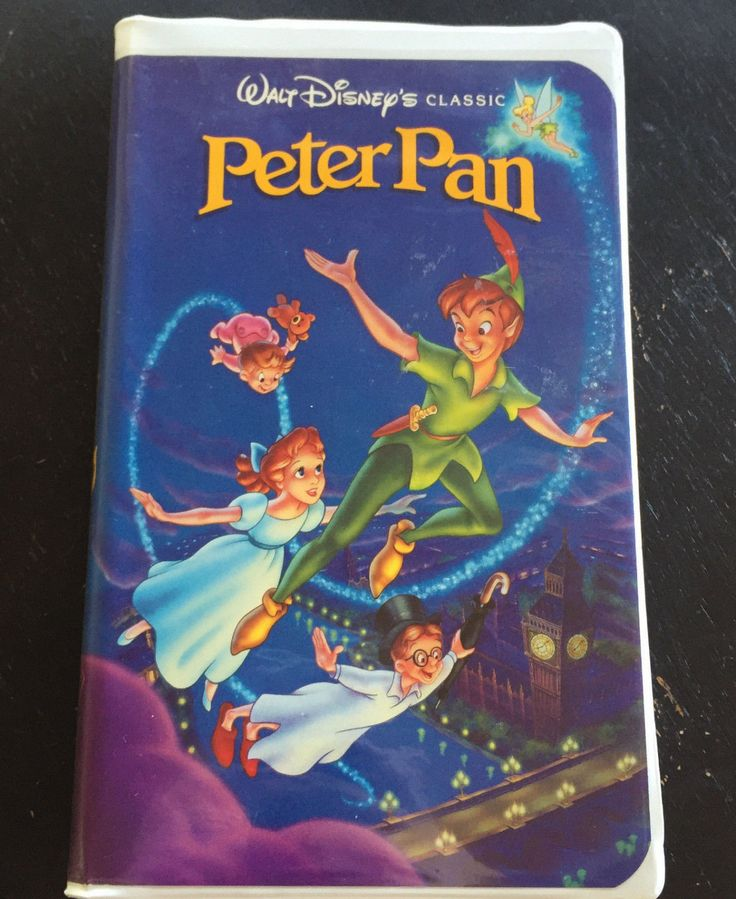 Peter Pan -VHS Disney Black Diamond 1990 Classic by AJAntique070VHSTape on Etsy https://www.etsy.com/listing/496363147/peter-pan-vhs-disney-black-diamond-1990
