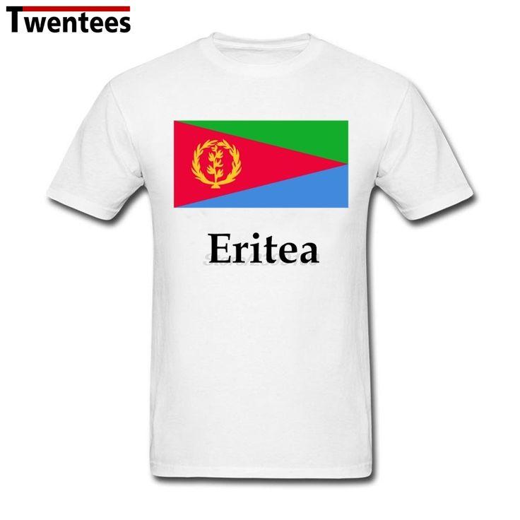 Men Man's Eritrea Flag And Name T-shirt Eritrea Flag And Name Shirts Short Sleeve Cotton Custom Men Male #Affiliate