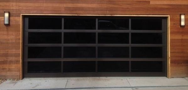 Contemporary Black Aluminum Black Laminate Privacy Glass Garage Door Glass Garage Door Garage Doors Black Garage Doors
