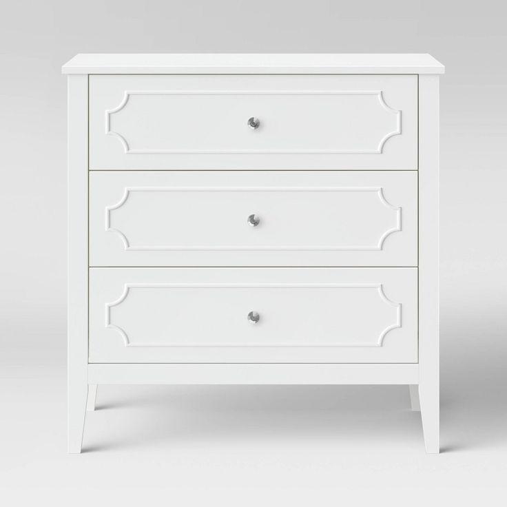 Davinci Chloe Regency 3 Drawer Dresser White In 2020 3 Drawer