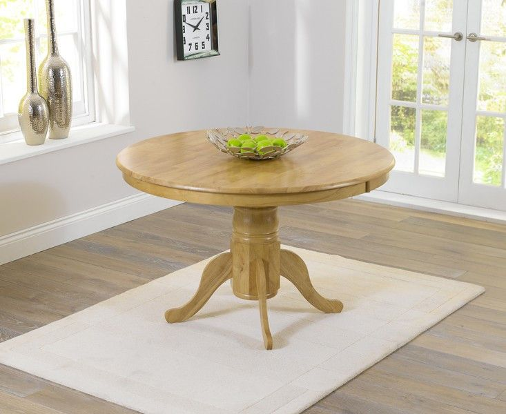elton solid hardwood 120cm round oak dining table 4 seater crafted from strong hardwood - Round Oak Dining Table