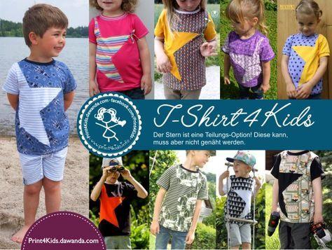 T-Shirt 4 Kids, Print4kids, Freebook, Schnittmuster, Shop