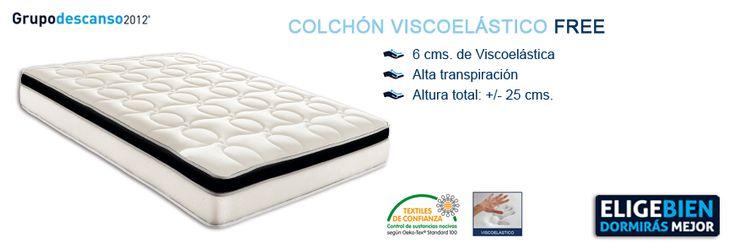 Colchón Viscoelástico FREE - http://colchonesvisco.net/colchones/colchones-viscoelasticos/colchon-viscoelastico-free/