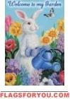 Garden Bunny Garden Flag