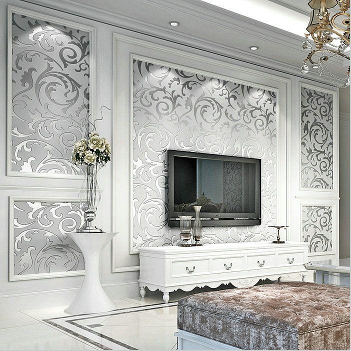 Details about 3D Modern Gloss <b>WallPaper</b> Roll Background for ...
