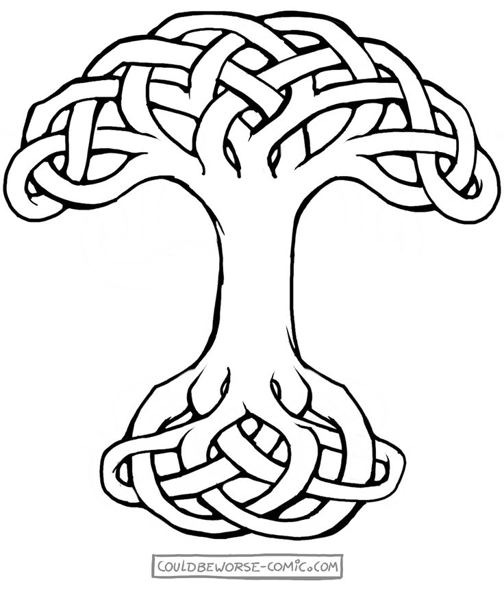 Celtic knot tree of life