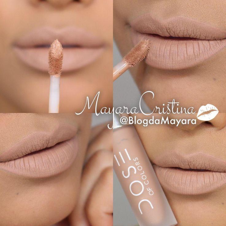 Batom Sand, da marca Dose Of Colors. Cor nude. Lipstick. Makeup. Maquiagem. Por @BlogdaMayara