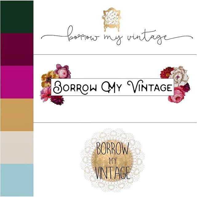 A peak into logo design options for a new client! Which would you pick? #risingtidesociety #logodesigns #womenentrepreneurs #weddingrentals #vintage #bossbabe