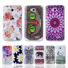Fashion Soft TPU Silicone Case With Owl Tower Flag Soft Plastic Cover For LG L65…