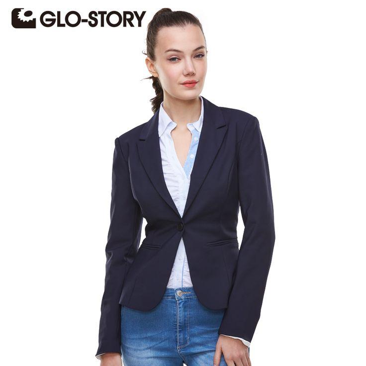 GLO-STORY 2017 New Spring Slim Women Blazer Coat Casual Women Jacket Long Sleeve One Button Suit Ladies Blazers Work Wear 1377 aliexpress.com