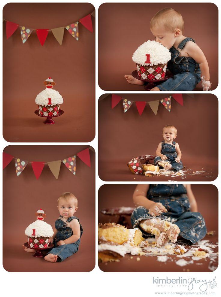 Themed Cake Smashes | Norfolk Virginia First Birthday Cake Smash Photographer | Kimberlin_Gray_Photography