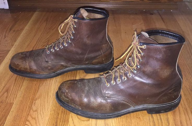 LARGE RED WING 2233 USA VELVA BOOMER LEATHER STEEL-TOE WORK BOOTS 15 1/2 (15 UK) #RedWing #WorkSafety