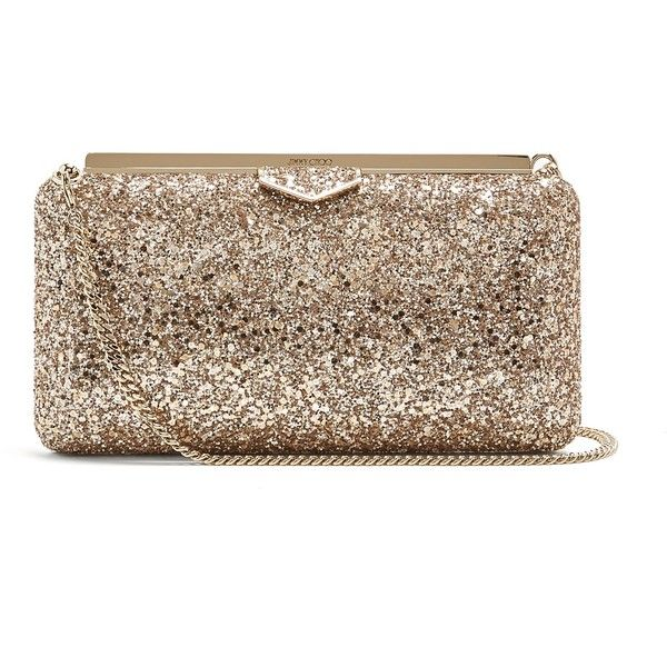 Jimmy Choo Ellipse glitter clutch-bag ($895) ❤ liked on Polyvore featuring bags, handbags, clutches, nude, brown handbags, floral purse, floral leather handbags, nude purses and brown leather purse