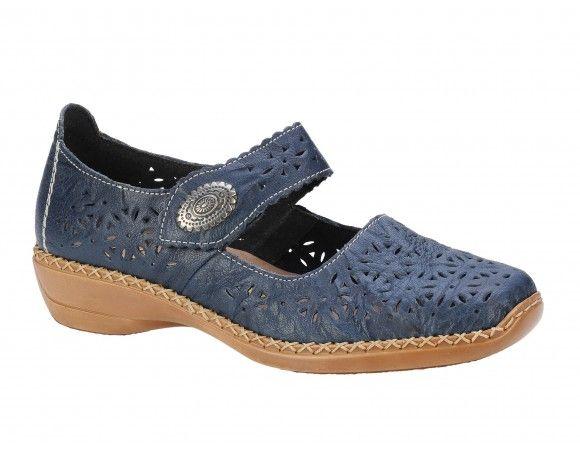 Pantofi casual dama Rieker bleumarin
