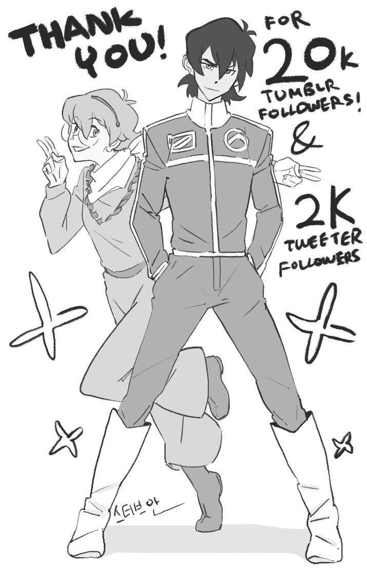 Keith and Pidge in 80's Golion Outfit by SteveAhn.deviantart.com on @DeviantArt