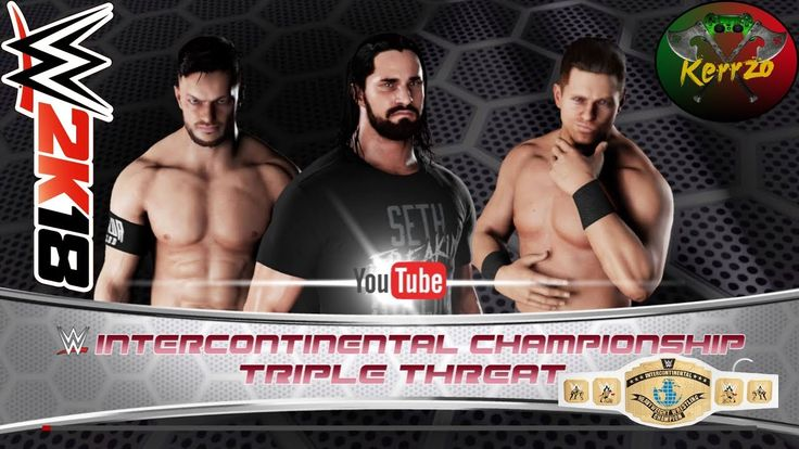 WWE 2K18   intercontinental championship the miz vs.finn balor vs seth r...