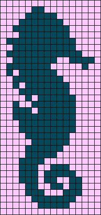 Seahorse Perler Bead Pattern